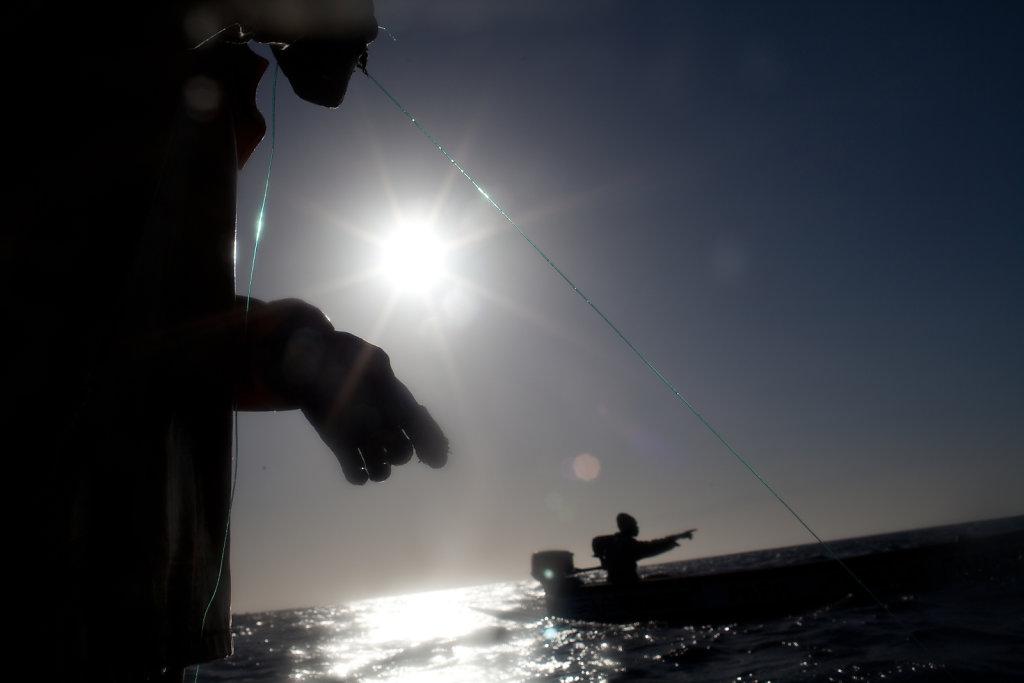 Babacar, pêcheur à la ligne sénégalais
